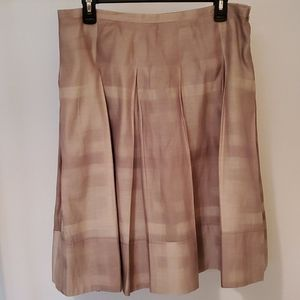 Burberry silk/cotton pleated skirt